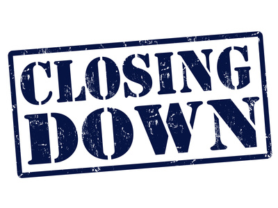 Closing down stamp